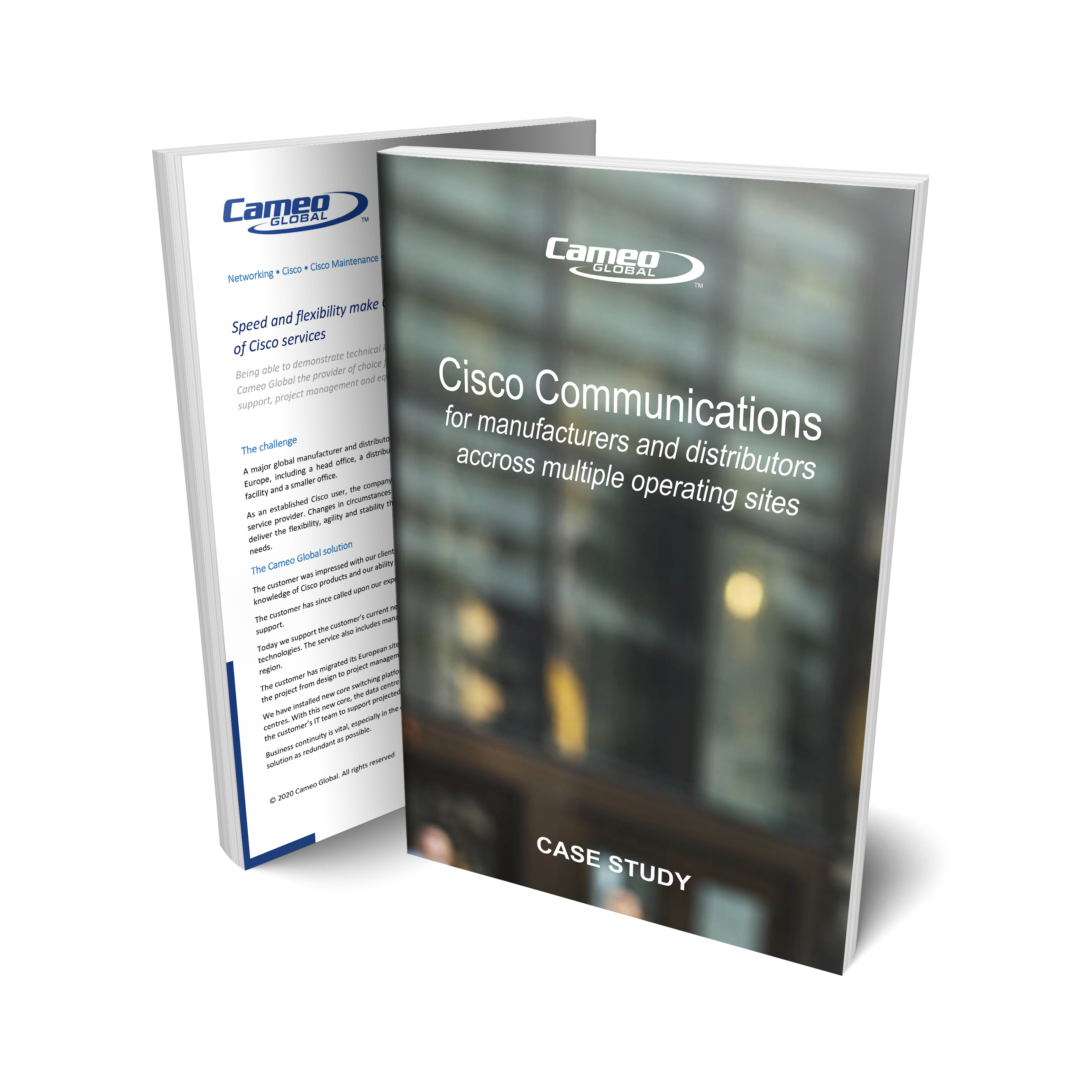 Read our case study: Cisco Communications for Major Manufacturers